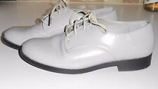 Marks & Spencer Grey Patent Leather Shoes size 4
