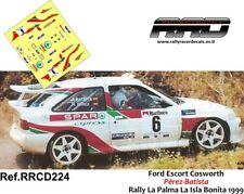 DECAL/CALCA 1/43; Ford Escort Cosworth; Perez-Batista; Rally La Palma 1999