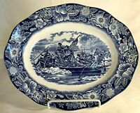 "Staffordshire Liberty Blue 14"" Oval Platter"