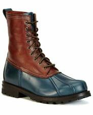 New in Box - $398 FRYE Veronica Duck Navy Leather/Shearling Boot Size 7