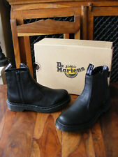 New Black Dr Martens 2976 Aunt Sally Zip Chelsea Boots UK 6 EU 39