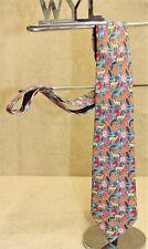 Cravate HERMES 7470 HA 100% soie multicolore motif bouquetin made in France