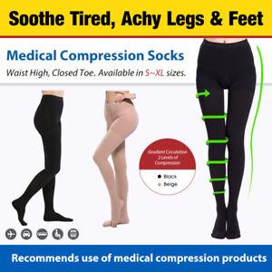 Compression Pantyhose 20-30 mmHg Stockings Women Swelling, Varicose Veins, Edema