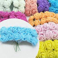 144Pcs/Bag Artificial Mini PE Foam Rose Flower Bouquet Party Decor Crafts
