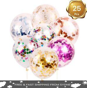 "10X25X 3COLOR 30cm/12"" Confetti Balloons Birthday Wedding Party Decoration Heliu"
