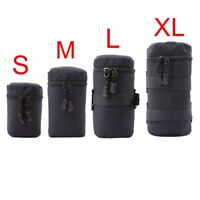 DSLR Camera Lens Pouch Soft Protector Carry Bag Case S-XL Waterproof Black Hot