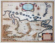 SÜDAMERIKA VENEZUELA CUM PARTE AUSTRALIS NOVAE ANDALUSIAE CARACAS BLAEU  1640