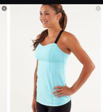 Lululemon Run Catch Me Tank Top Women Size 6 Light Aqua Blue Yoga Gym Runner