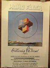 MANIFESTO,Affiche,poster,77 HOMO FABER,ANTONIO PETICOV RIO S.PAOLO BRAZIL MOSTRA