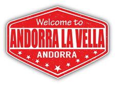 "Andorra La Vella City Andorra Grunge Travel Car Bumper Sticker Decal 5"" x 4"""