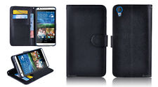 BLACK Premium New Wallet Leather Case Cover For HTC Desire 820 820T