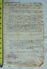 18th C document 1795 Timothy Levi Spaulding Westford Parker Wright Solemn league