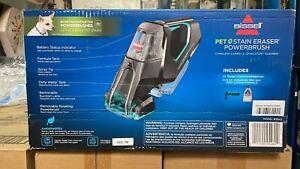 Bissell Pet Stain Eraser PowerBrush Portable Rotating Carpet Cleaner Cordless