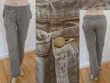 Geelong Hose Girl Casual Style Chinos Mini-Hahnentritt Grau S Top Zustand