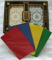 KEM Arrow Black Gold Bridge Regular Standard Index Playing + 2 Cut Cards Narrow