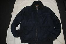 Gap Navy Bomber Jacket with Gold Quilted Lining Size Large