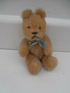 """SWEET VINTAGE SMALL MOHAIR TEDDY BEAR 6"""""""