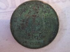 100 REIS COIN dated 1885! Vintage BRAZIL coin: copper nickel composition   IS233