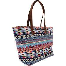 Southwest Native American Indian Print Style Handbag Purse Duffle Tote ...LUSWBB