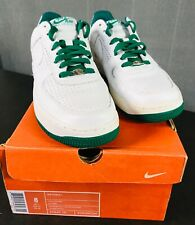 NIKE AIR FORCE 1 LOW PERFORATED STARS Men's 8 WHITE PINE GREEN 313642-131 2006