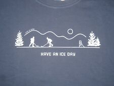 MEN'S LIFE IS GOOD L/S  POND HOCKEY HAVE AN ICE DAY T--SHIRT SIZE XXL