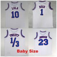 Baby Size Bugs Lola Space Jam Tune Squad Team Basketball Jersey Shorts White