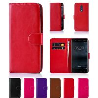 Premium PU Leather Case Wallet Cover For Nokia Lumia Models