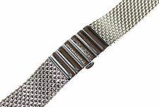 Milanaiseband Uhrenarmband Metallband 18mm Edelstahl Silber 16cm gerader Anstoß