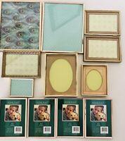 Vintage Brass Metal Photo Picture Frames Lot Of 12. Craft, DIY  Decor,Display