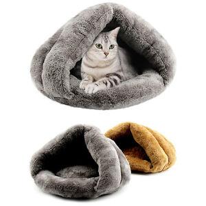 Pet Cave Bed Cat Dog House Kennel Puppy Sleeping Fleece Soft Mat Pad Warm Nest