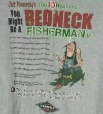 Jeff Foxworthys You Might Be A Redneck Fisherman Mens AAA Graphic T-Shirt Gray L