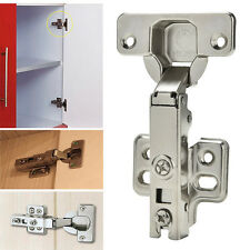 Stainless Kitchen Cabinet Cupboard Wardrobe Door Hinges Full Overlay Self Close