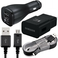 Oem Samsung Galaxy S6 S7 Note 5 4 Fast Charging Dual Usb Car&Wall Charger +Cable
