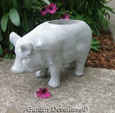 "Perky 14"" PIG FLOWER POT PLANTER Garden Statue ~ TOO CUTE!"