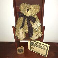 Boyds Bear~Uncle Gus~Mohair Bear~Free Ship!