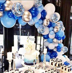 GARLAND  BALLOON ARCH BLUE WEDDING BIRTHDAY BABY SHOWER CONFETTI PARTY KIT UK