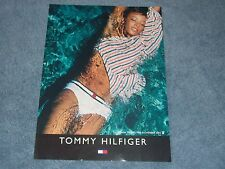 Tommy Hilfiger Clothing ad with 2002 Playboy Playmate Serria Tawan