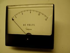 Simpson Wide Vue Analog Panel Mount Ac Voltmeter 0 15 Volts 1359 1349 10280 1011