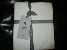 West Elm Tencel king Duvet stone white + 2  Euro shams  New