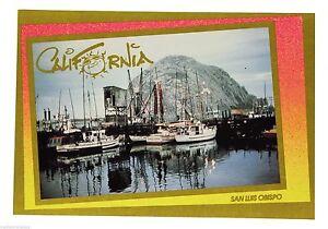 NEW VTG CALIFORNIA POST CARD San Luis Obispo SLO Morro Rock Vacation CA Travel