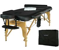 "BestMassage 2.5"" Pad PU Portable Massage Table Facial Spa Bed W/Carry Case"