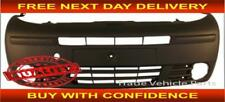 Renault Trafic 2001-2006 Front Bumper With Lamp Holes - Black