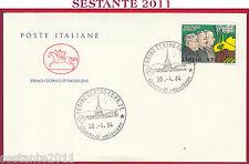 ITALIA FDC CAVALLINO PATTO DI ROMA 1984 DI VITTORIO BUOZZI GRANDI TORINO Y572