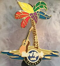 Hard Rock Live ORLANDO 2015 GAY PRIDE PIN Rainbow Palm Tree Oasis w/ Guitar New!