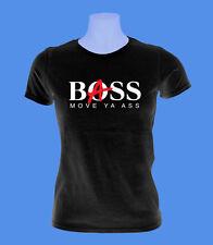 Girlie Damen Shirt Bass Boss Musik move2be XS S M schwarz
