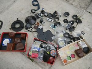 JOBLOT of loupe eyepiece B&W push on filters vintage items achromatic Rollei