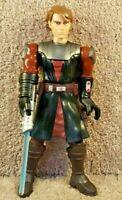"2009 Hasbro Star Wars Force The Clone Wars Talking Anakin Skywalker Figure 10"""