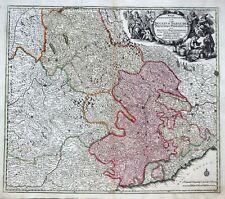 Ducatus Sabaudiae Principat piemontese Genova PROVENZA FRANCIA MAPPA SEUTTER 1726