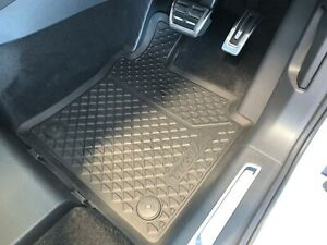 Genuine Volkswagen Tiguan Rubber Floor Mats Front Mat Set of 2 2017-Current