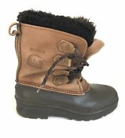 "SOREL ""Badger"" Womens Size 8 Winter, Snow Boots, Leather, Rubber, Made in Canada"